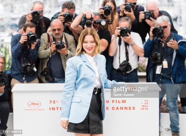 Lea Seydoux attends the photocall for Oh Mercy during the 72nd annual Cannes Film Festival on May 23 2019 in Cannes France