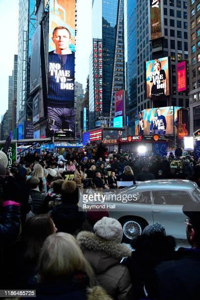 Lea Seydoux Daniel Craig Lashana Lynch Rami Malek and Billy Magnussen are seen outside Good Morning America on December 4 2019 in New York City
