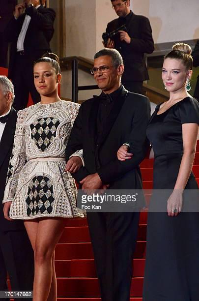 Lea Seydoux director Abdellatif Kechiche and Adele Exarchopoulos attend 'La Vie D'Adele Chapitre 1 2 Blue Is The Warmest Color' Premiere The 66th...
