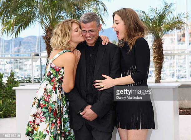 Lea Seydoux director Abdellatif Kechiche and Adele Exarchopoulos attend the Photocall for 'La Vie D'Adele' during The 66th Annual Cannes Film...