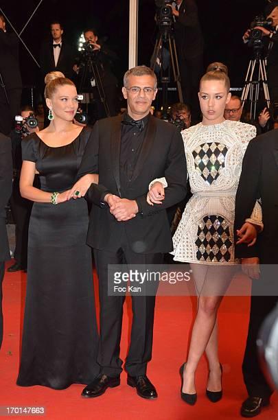 Lea Seydoux director Abdellatif Kechiche and Adele Exarchopoulos attend the 'La Vie D'Adele Chapitre 1 2 Blue Is The Warmest Color' Premiere The 66th...