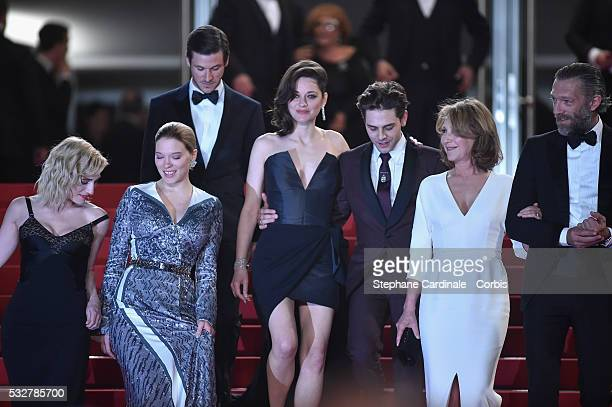 Lea Seydoux Gaspard Ulliel Marion Cotillard Xavier Dolan Nathalie Baye and Vincent Cassel attend the It's Only The End Of The World Premiere during...