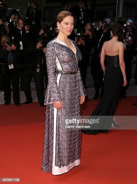 Lea Seydoux leaves the screening of 'It's Only The End Of The World ' at the annual 69th Cannes Film Festival at Palais des Festivals on May 19 2016...