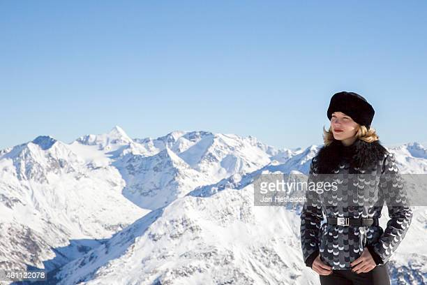 Lea Seydoux poses at the photo call for the 24th Bond film 'Spectre' on January 7 2015 in Soelden Austria