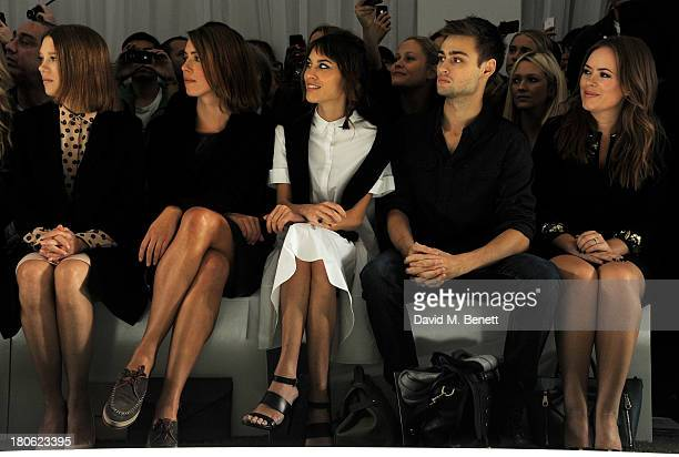 Lea Seydoux Rebecca Hall Alexa Chung Douglas Booth and Tanya Burr attend the Mulberry Spring/Summer 2014 show during London Fashion Week at Claridges...