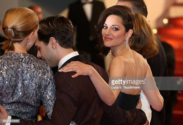 """Lea Seydoux, Xavier Dolan and Marion Cotillard attend the """"It's Only The End Of The World """" Premiere during the 69th annual Cannes Film Festival at..."""