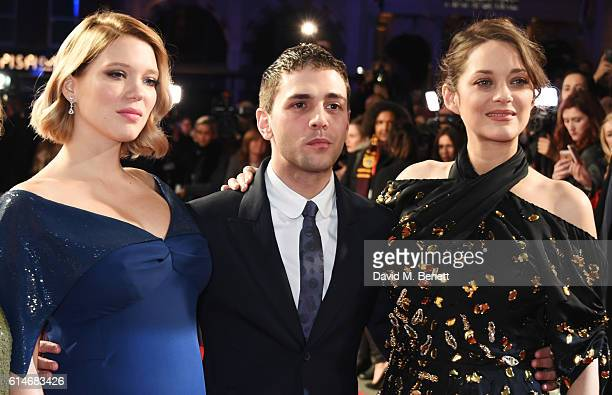Lea Seydoux Xavier Dolan and Marion Cotillard attend the 'It's Only The End Of The World' BFI Flare Special Presentation screening during the 60th...