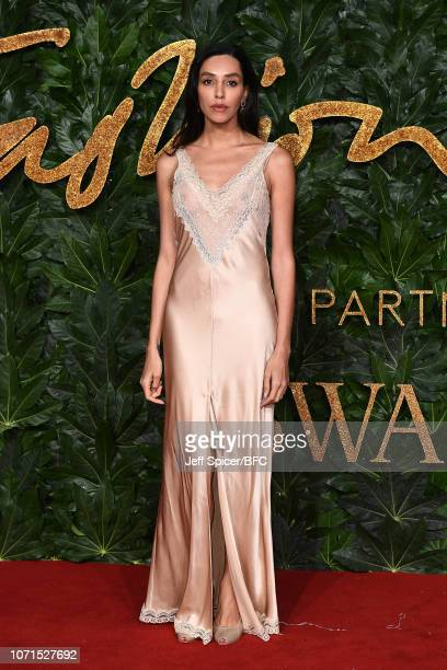 Lea T arrives at The Fashion Awards 2018 In Partnership With Swarovski at Royal Albert Hall on December 10 2018 in London England