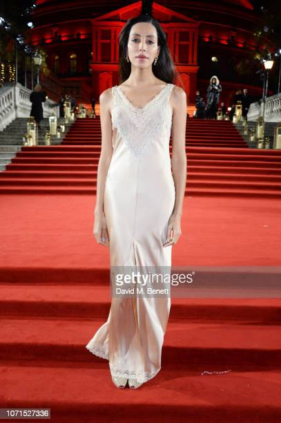 Lea T arrives at The Fashion Awards 2018 in partnership with Swarovski at the Royal Albert Hall on December 10 2018 in London England