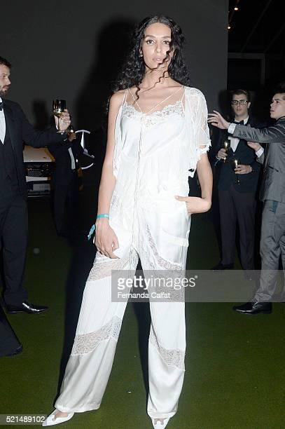 Lea T attends at 2016 amfAR Inspiration Gala Sao Paulo on April 15 2016 in Sao Paulo Brazil