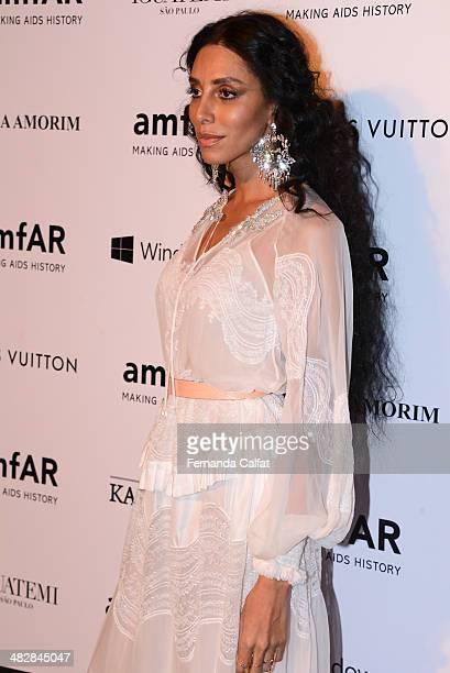 Lea T attends at amfAR's Inspiration Gala Sao Paulo on April 4 2014 in Sao Paulo Brazil