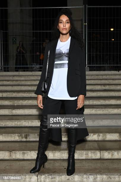 Lea T attends Burberry closing party for Anne Imhof's Exhibition 'Natures Mortes'at Palais de Tokyo on October 18, 2021 in Paris, France.