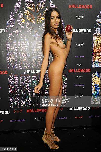 Lea T attends Hallowood Party 2012 on October 27 2012 in Milan Italy