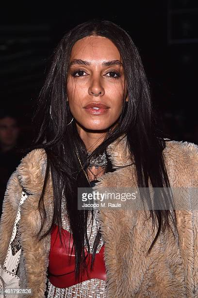 Lea T attends Marcelo Burlon County of Milan during Milan Menswear Fashion Week Fall Winter 2015/2016 on January 19 2015 in Milan Italy
