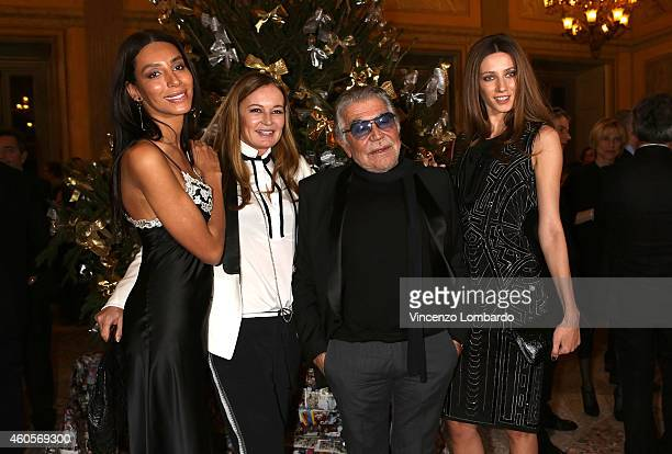 Lea T Eva Cavalli Roberto Cavalli and guest attend the Fondazione IEO CCM Christmas Dinner For on December 16 2014 in Monza Italy