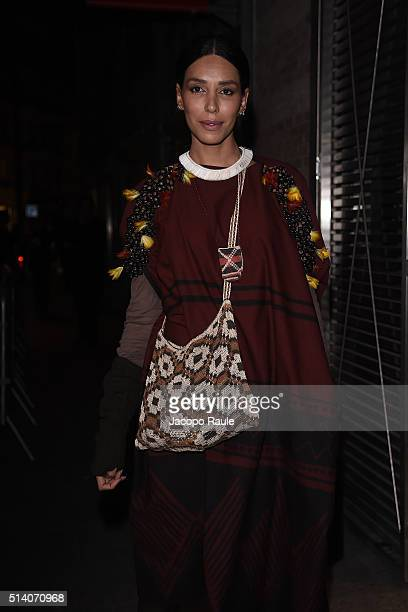 Lea T is seen arriving at Givenchy Fashion Show during the Paris Fashion Week Womenswear Fall Winter 2016/2017 on March 6 2016 in Paris France