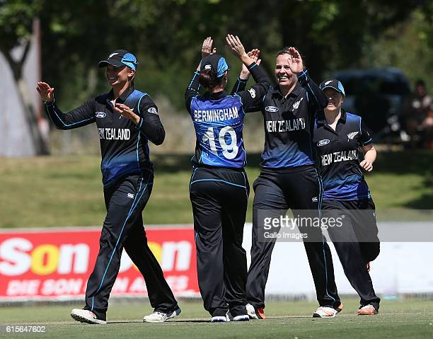 Lea Tahuhu of New Zealand during the 5th Women's ODI match between South Africa and New Zealand at Boland Park on October 19 2016 in Paarl South...