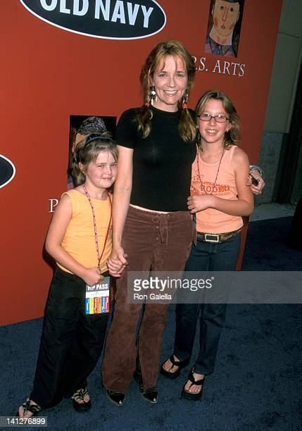 Lea Thompson and daughters at the Hollywood Families Celebrate Old Navys PS Arts Partnership Old Navy Santa Monica