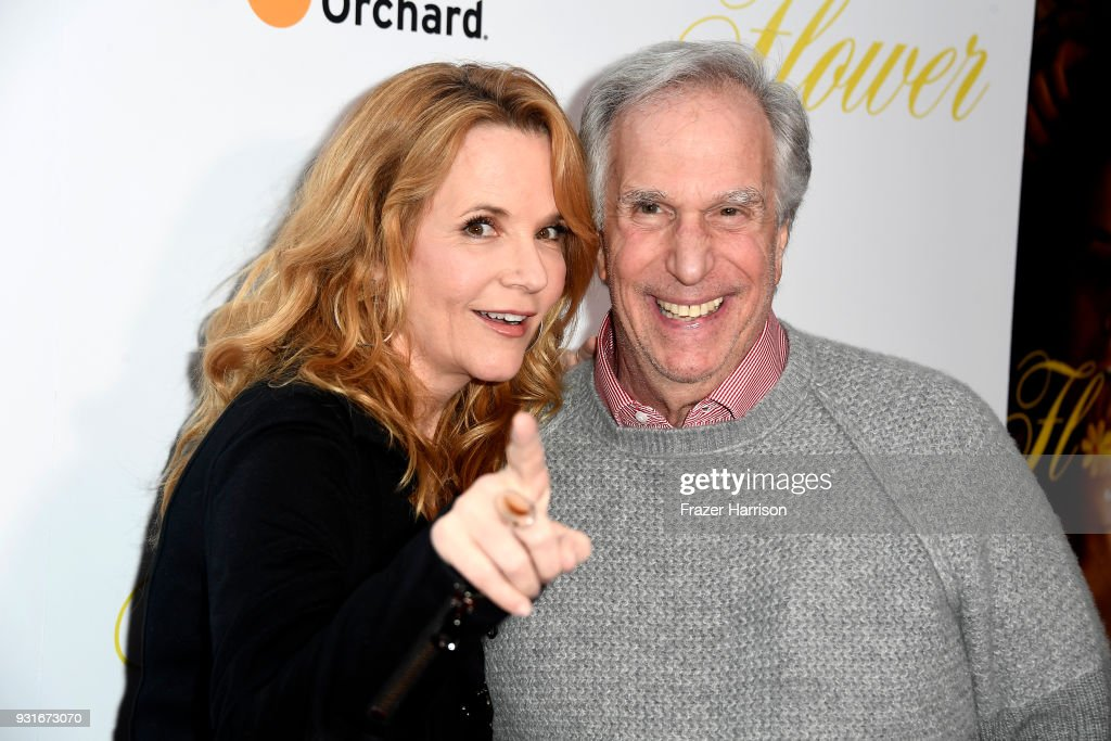 Lea Thompson; and Henry Winkler attend the Premiere Of The Orchard's 'Flower' at ArcLight Cinemas on March 13, 2018 in Hollywood, California.