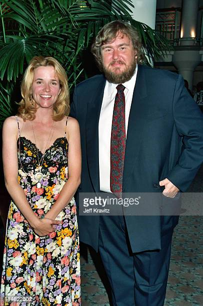 Lea Thompson and John Candy during Cool Comedy Hot Cuisine Scleroderma Research Foundation Benefit at Regent Beverly Wilshire Hotel in Beverly Hills...