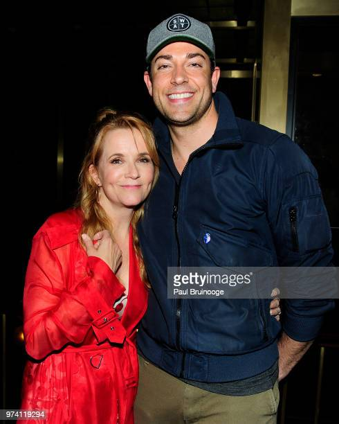 Lea Thompson and Zachary Levi attend MarVista Entertainment And Parkside Pictures With The Cinema Society Host The After Party For 'The Year Of...