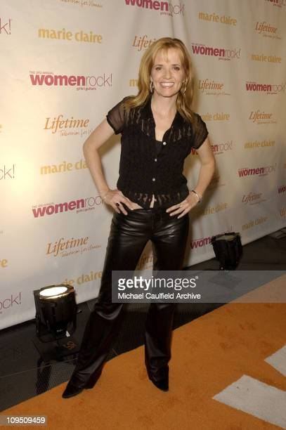 Lea Thompson arrives at 'Women Rock Girls and Guitars' airing on the Lifetime Television Network October 25th 2002 at 10 pm
