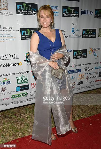 Lea Thompson attends The 28th Annual Fort Lauderdale International Film Festival Opening Night at Cinema Paradiso on October 18 2013 in Fort...