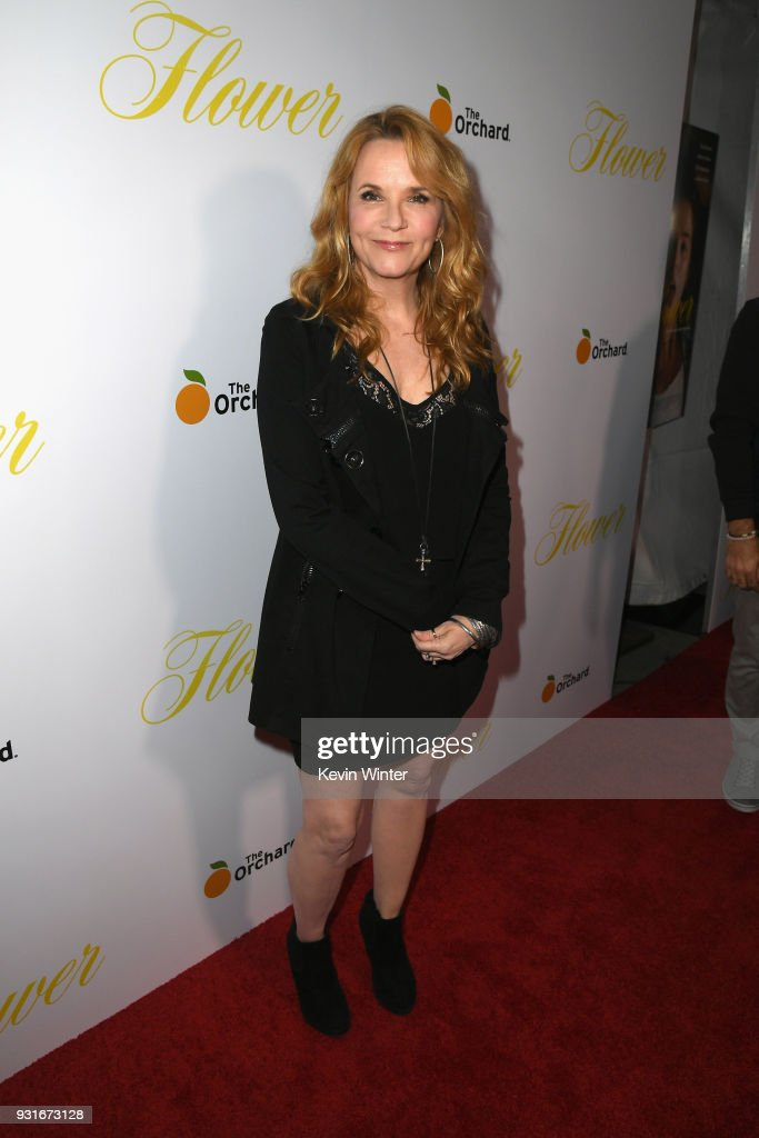 Lea Thompson attends the premiere of The Orchard's 'Flower' at ArcLight Cinemas on March 13, 2018 in Hollywood, California.