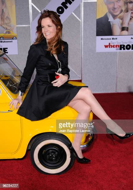 Lea Thompson attends the 'When In Rome' Los Angeles Premiere at the El Capitan Theatre on January 27 2010 in Hollywood California
