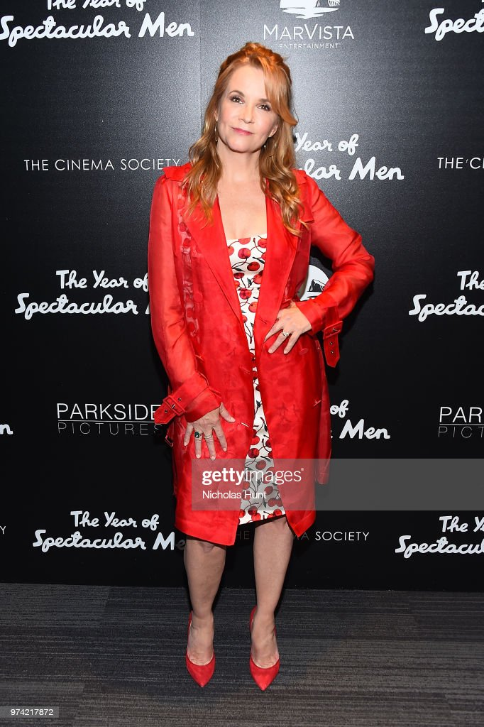 Lea Thompson attends 'The Year Of Spectacular Men' New York Premiere at The Landmark at 57 West on June 13, 2018 in New York City.