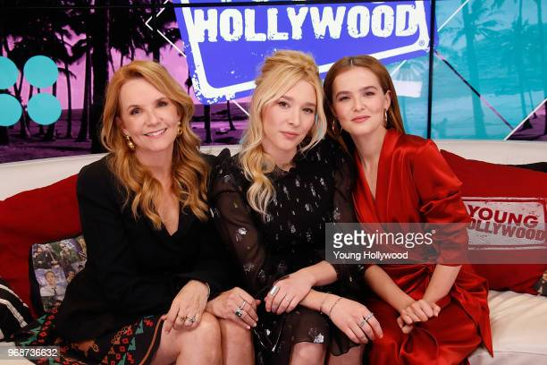 Lea Thompson Madelyn Deutch and Zoey Deutch visits the Young Hollywood Studio on June 6 2017 in Los Angeles California