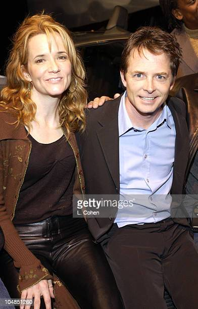 Lea Thompson Michael J Fox during 'Back To The Future' Reunion And DVD Launch Party at Universal backlot in Universal City California United States