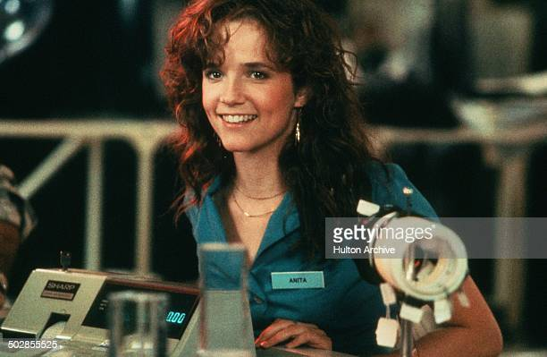 Lea Thompson smiles in a scene for the Universal Studios movie 'The Wild Life' circa 1984