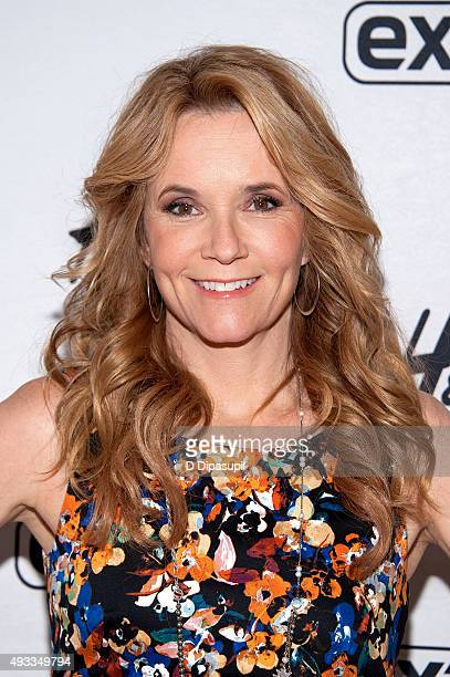 Lea Thompson visits 'Extra' at their New York studios at HM in Times Square on October 19 2015 in New York City
