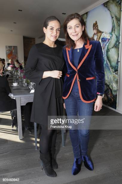 Lea Vajnorsky and Alexandra von Rehlingen during the Lanserhof Ladies Lunch at Loft am Mauerpark on February 28 2018 in Berlin Germany