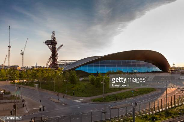 Lea Valley Velopark during the coronavirus pandemic on the 7th May 2020 in London, United Kingdom. The Velodrome remains to be the only venue in the...