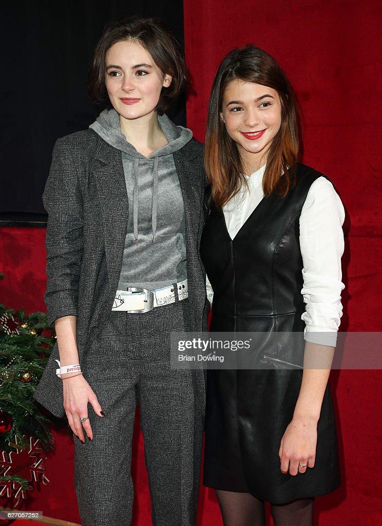 Lea van Acken and Lisa-Marie Koroll attend the Medienboard Pre-Christmas Party at Schwuz on December 1, 2016 in Berlin, Germany.