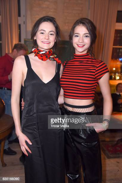 Lea van Acken and Lisa-Marie Koroll attend the Pantaflix Party At The 67th Berlinale International Film Festival on February 13, 2017 in Berlin,...