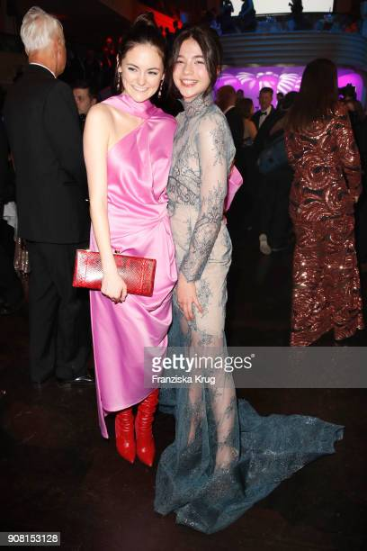 Lea van Acken and LisaMarie Koroll during the German Film Ball 2018 at Hotel Bayerischer Hof on January 20 2018 in Munich Germany