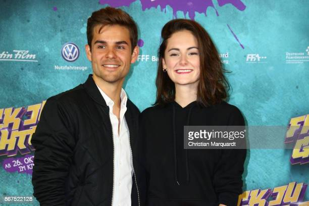 Lea van Acken and Lucas Reiber attend the 'Fack ju Goehte 3' premiere at CineStar on October 28 2017 in Berlin Germany