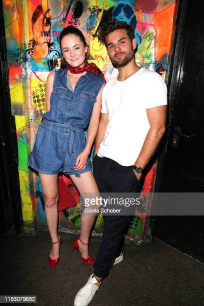 Lea van Acken and Lucas Reiber during the Freder Fredersen by UFA Fiction party at Club Harry Klein on June 30 2019 in Munich Germany