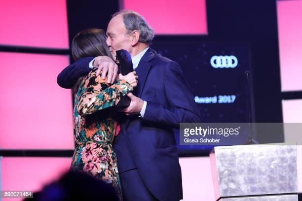 Lea van Acken and Michael Mendl during the Audi Generation Award 2017 at Hotel Bayerischer Hof on December 13 2017 in Munich Germany