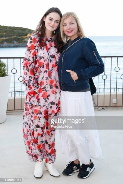 Lea van Acken and Nadja Uhl during the Volkswagen TCross Driving Experience on April 29 2019 in Bastia on the island of Corsica France