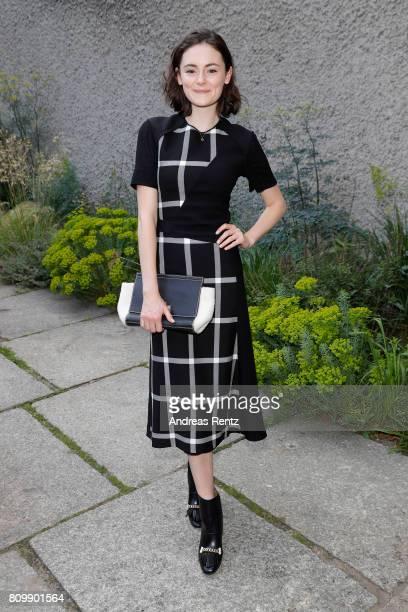 Lea van Acken arrives to the Hugo Boss presentation during 'Der Berliner Mode Salon' Spring/Summer 2018 at St Agnes Church on July 6 2017 in Berlin...