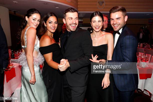 Lea van Acken, Nilam Farooq, Edin Hasanovic, Aylin Tezel and Lucas Reiber during the 46th German Film Ball at Hotel Bayerischer Hof on January 26,...