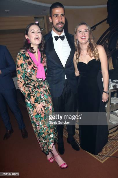 Lea van Acken soccer player Sami Khedira and GinaMaria Schumacher daughter of of Michael Schumacher during the Audi Generation Award 2017 at Hotel...