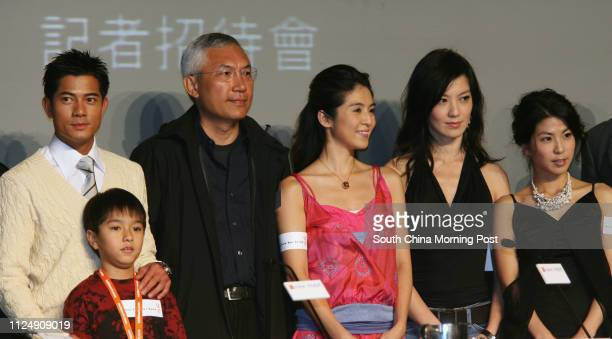 Lead actor Aaron Kwok Fushing Ian Geow film director Patrick Tam Kaming actress Charlie Young Choinei actress Kelly Lin and Valen Hsu pose for...