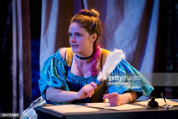 Lead actor and coproducer Anna Waldron is pictured during a rehearsal of 'Or' in the Black Box Theater Space on the first floor of Chelsea Theater...