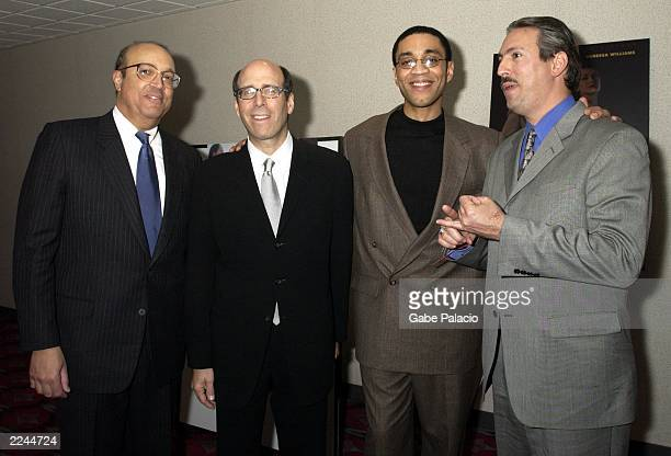Lead actor Harry Lennix Matt Blank Chairman and CEO of Showtime and CoProducers Adam Clayton Powell IV and Adam Clayton Powell III at the premiere of...