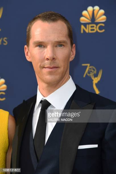 Lead actor in a limited series or movie nominee Benedict Cumberbatch arrives for the 70th Emmy Awards at the Microsoft Theatre in Los Angeles...